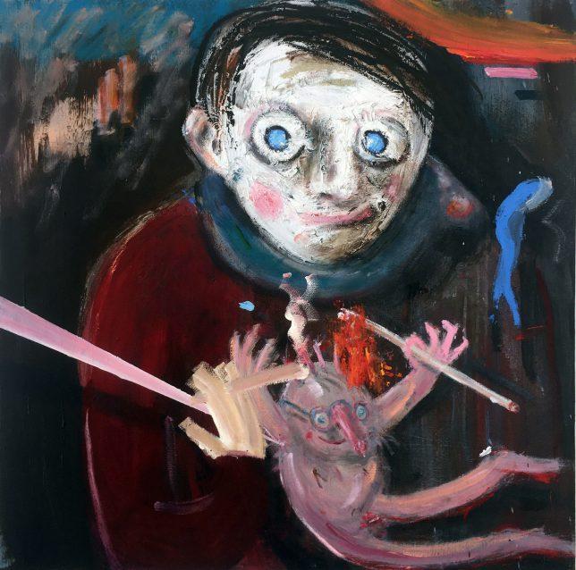 Philip Grözinger, The Way I See, 2019, Öl auf Leinwand, 60 x 60 cm