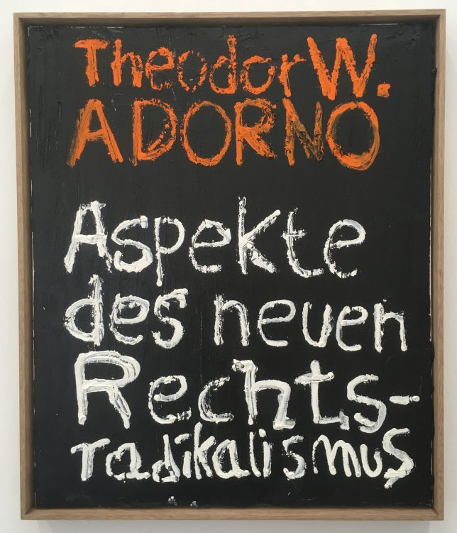 Philip Grözinger, Adorno, 2020, Öl auf Leinwand, 60 x 50 cm