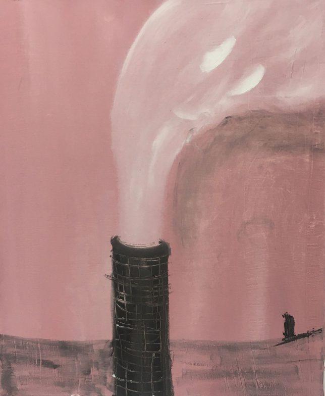 Philip Grözinger, Einsamkeit, 2020, Öl auf Leinwand, 60 x 50 cm
