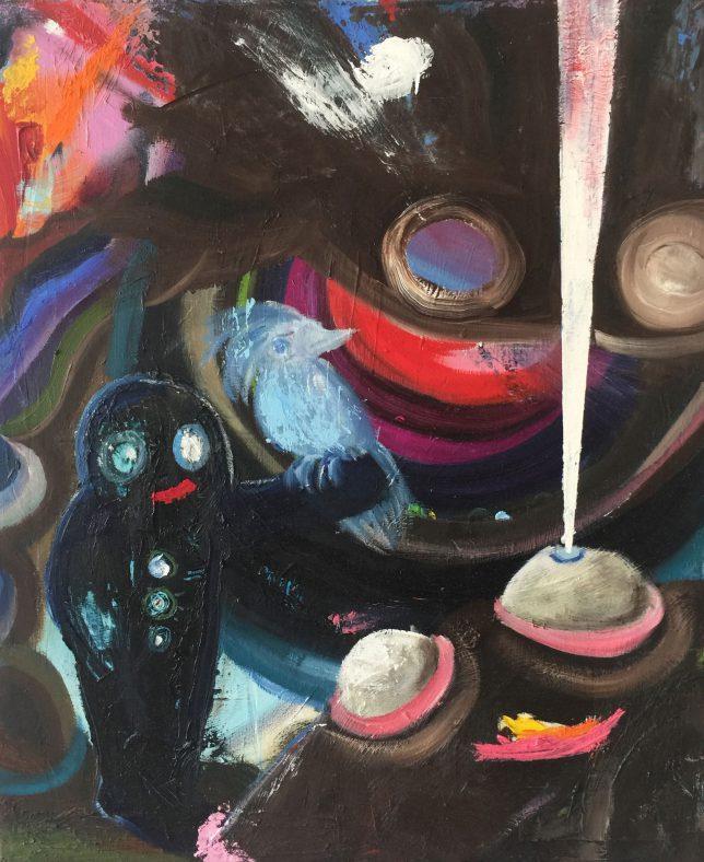 Philip Grözinger, Feeling Happy, 2020, Öl auf Leinwand, 60 x 50 cm