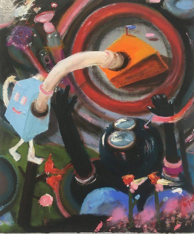 Philip Grözinger, Knowing You, 2020, Öl auf Leinwand, 60 x 50 cm
