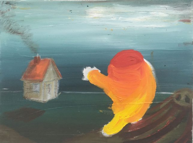Philip Grözinger, So We Meet, 2020, Öl auf Leinwand, 30 x 40 cm