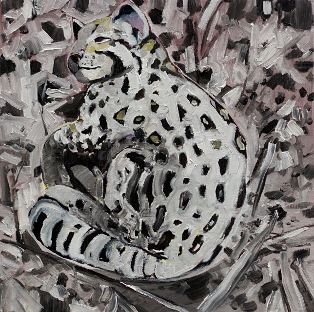 Philipp Kummer, Punkt Punkt, 2020, Öl auf Leinwand, 25 x 25 cm