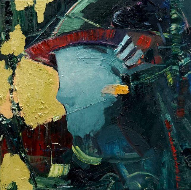 Philipp Kummer, Schwaden, 2020, Öl auf Leinwand, 50 x 50 cm