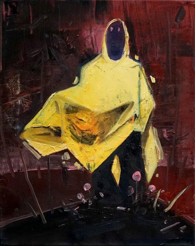 Philipp Kummer, Statik, 2020, Öl auf Leinwand, 50 x 40 cm