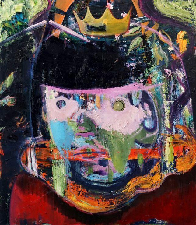 Philipp Kummer, Die da unten machen ja doch nur, was sie wollen, 2020, Öl auf Leinwand, 170 x 150 cm