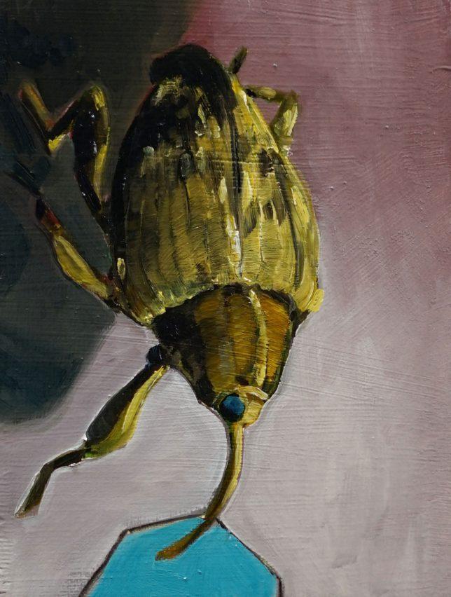 Philipp Kummer, Die leise Grenze, 2020, Öl auf Holz, 20 x 15 cm