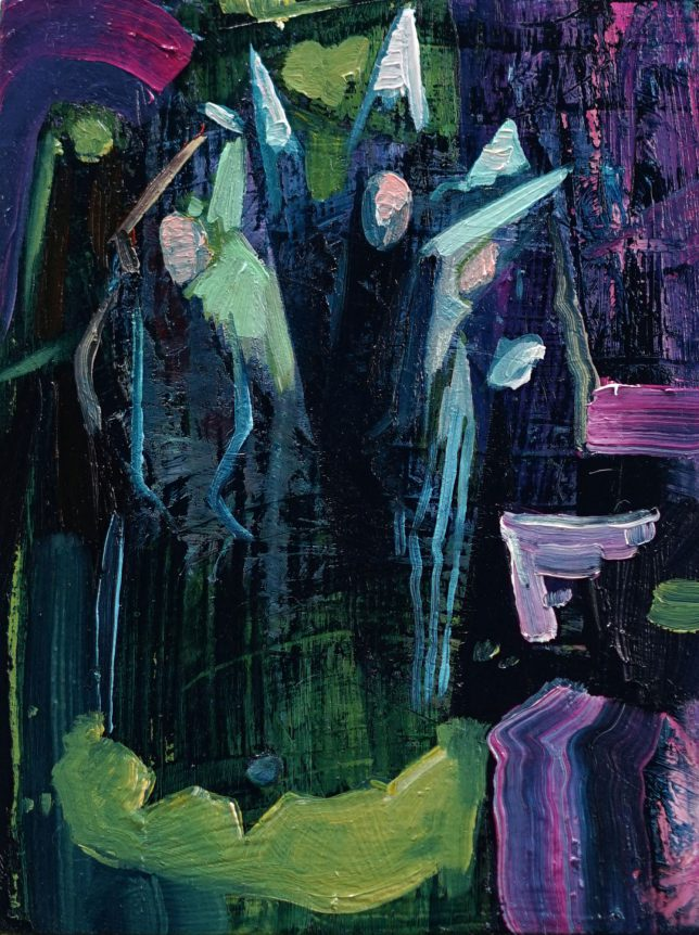 Philipp Kummer, Just Believe, 2020, Öl auf Holz, 20 x 15 cm