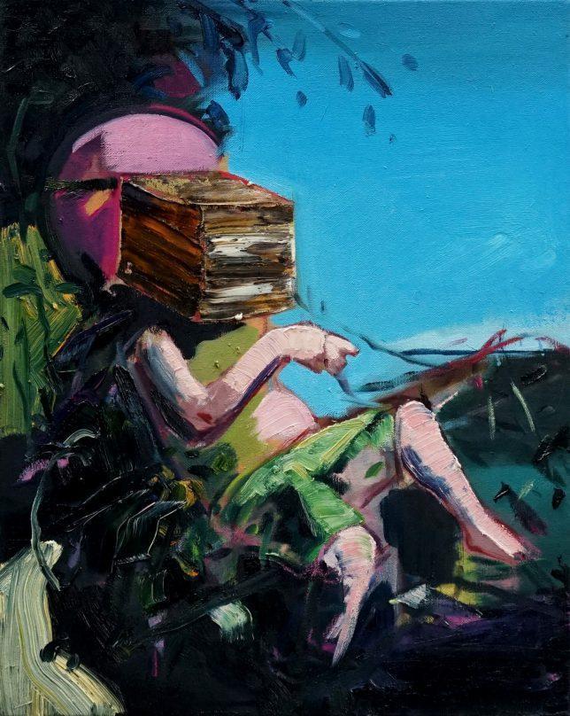 Philipp Kummer, Peace is Easy, 2020, Öl auf Leinwand, 50 x 40 cm