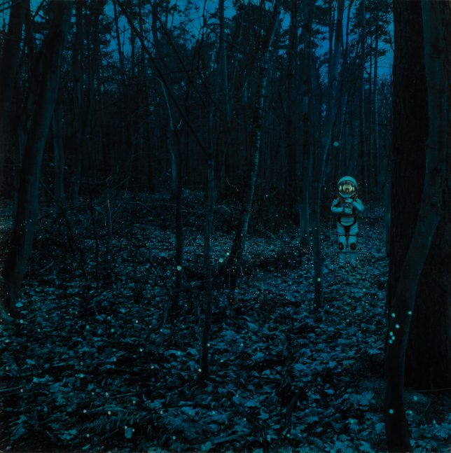 Casey McKee, Luminescence, 2020, C-Print, photograph, oil on canvas, 80 x 80 cm