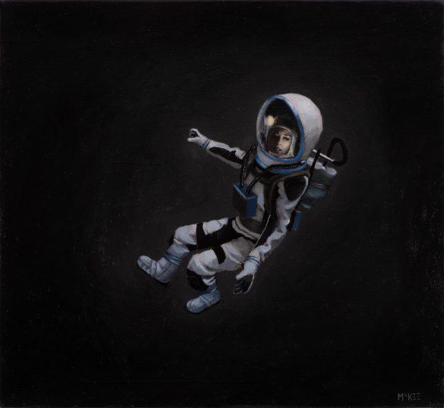 Casey McKee, Recalibration, 2020, C-Print, Öl auf Leinwand, 23 x 25 cm
