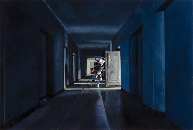 Casey McKee, Somnambulist, 2020, C-Print Öl auf Leinwand, 80 x 120 cm