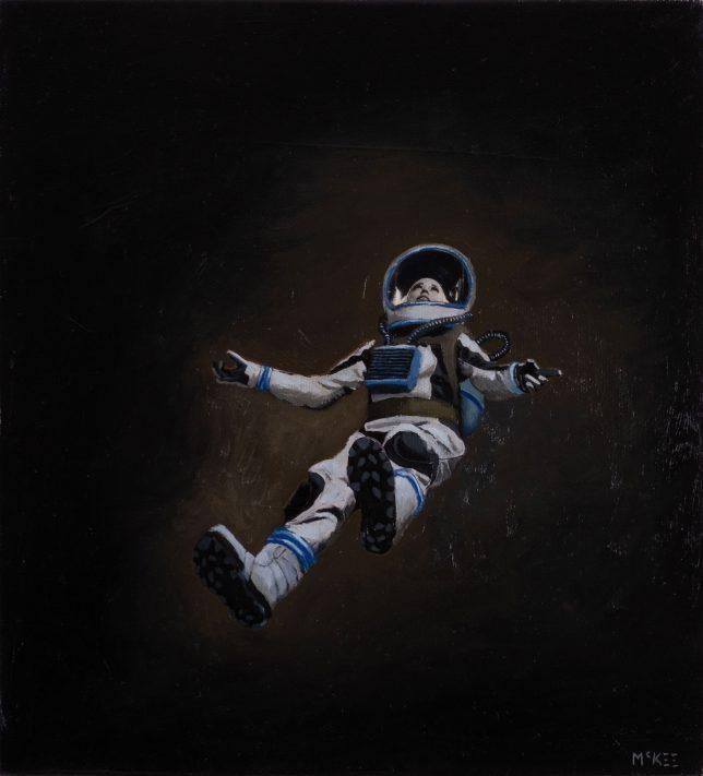 Casey McKee, Void, 2020, C-Print, Öl auf Leinwand, 23 x 25 cm