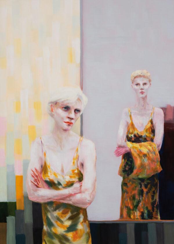 Tjark Ihmels, Das Licht entscheidet, 2020, Öl auf Leinwand, 140 x 100 cm