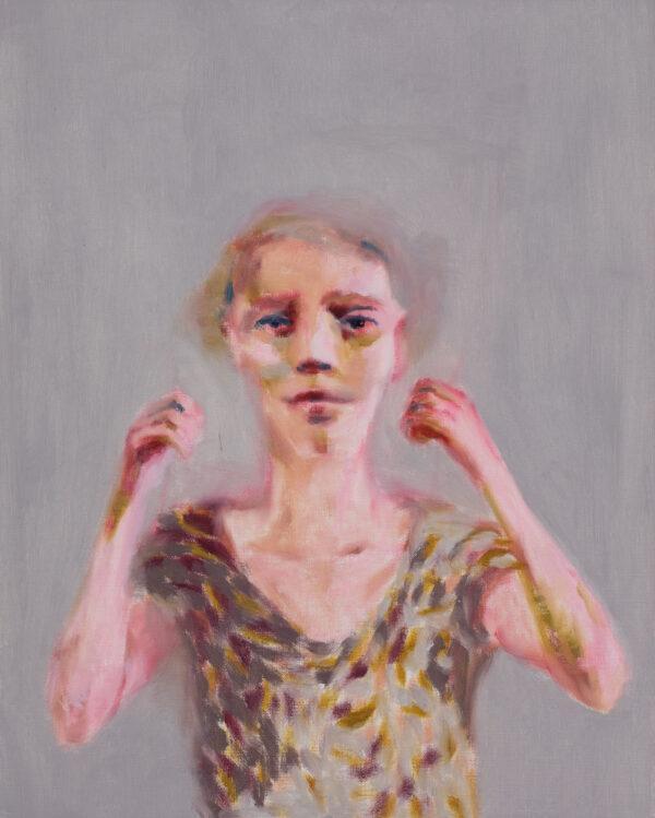 Tjark Ihmels, Wehr dich, 2020, Öl auf Leinwand, 50 x 40 cm