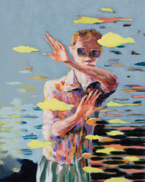 Tjark Ihmels, Da kommt was, 2020, Oil on Canvas, 100 x 80 cm