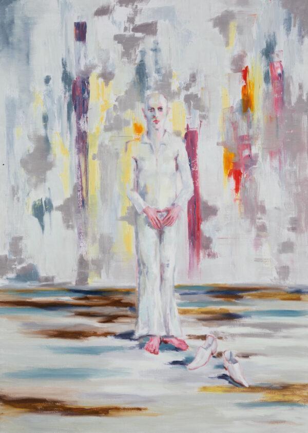 Tjark Ihmels, Ich bin soweit, 2020, Öl auf Leinwand, 140 x 100 cm