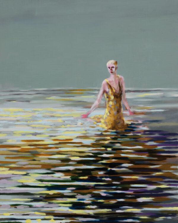 Tjark Ihmels, Badende, 2020, Öl auf Leinwand, 100 x 80 cm