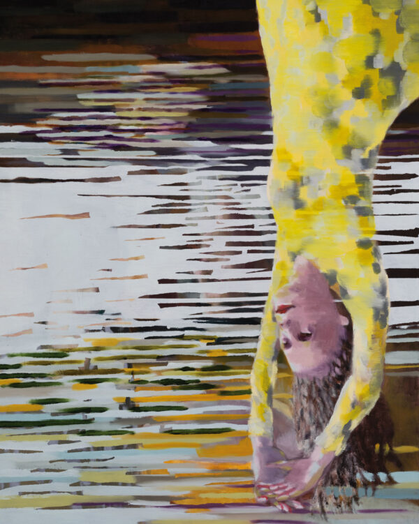 Tjark Ihmels, Die Hängende, 2020, Öl auf Leinwand, 100 x 80 cm
