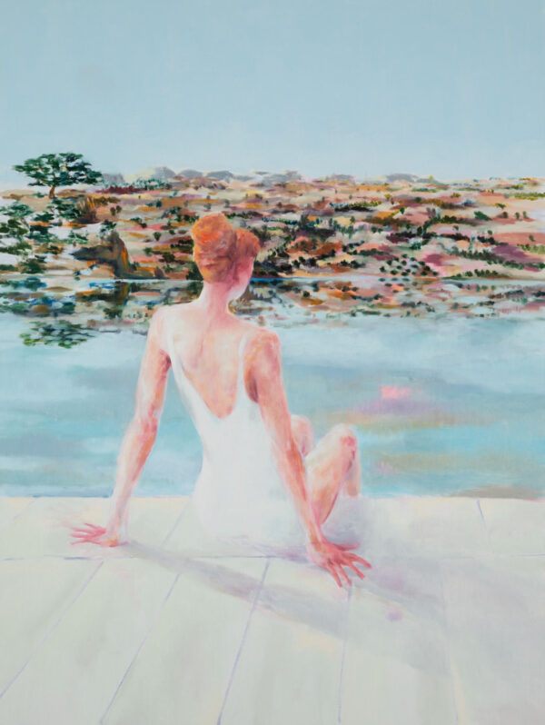 Tjark Ihmels, Geordnete Aussicht, 2020, Öl auf Leinwand, 160 x 120 cm