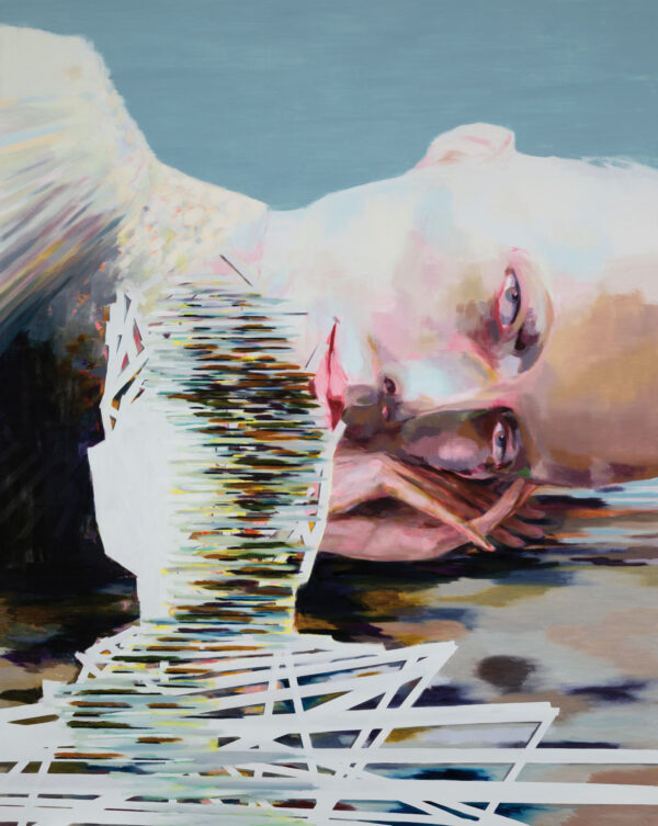 Tjark Ihmels, Wie alles begann, 2020, Öl auf Leinwand, 200 x 160 cm