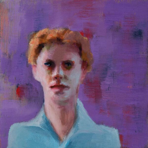 Tjark Ihmels, Junger Mann, 2020, Oil on Canvas, 20 x 20 cm