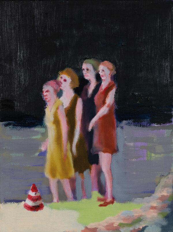 Tjark Ihmels, Sensation, 2020, Öl auf Leinwand, 23 x 18 cm