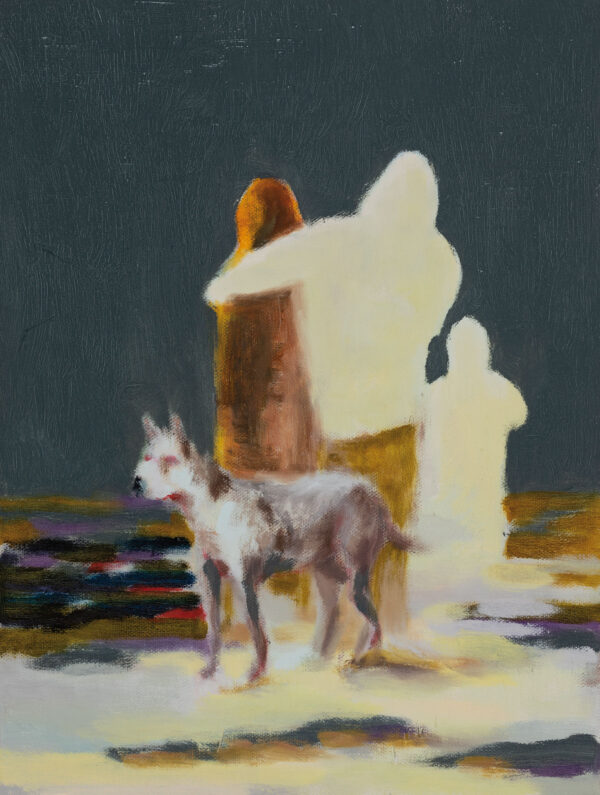 Tjark Ihmels, Unbekanntes Terrain, 2020, Öl auf Leinwand, 40 x 30 cm