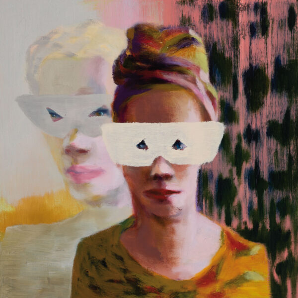 Tjark Ihmels, Diskretion, 2020, Öl auf Leinwand, 40 x 40 cm