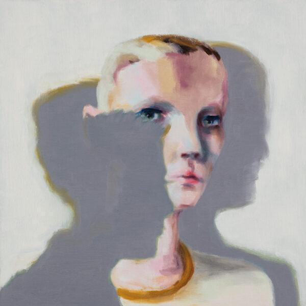 Tjark Ihmels, Zwischen den Schatten, 2020, Öl auf Leinwand, 50 x 50 cm