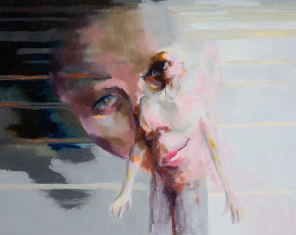 Tjark Ihmels, Projektion, 2020, Öl auf Leinwand, 80 x 100 cm
