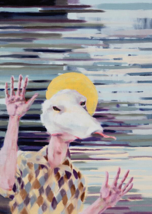 Tjark Ihmels, Es gibt immer was zu feiern, 2020, Öl auf Leinwand, 70 x 50 cm