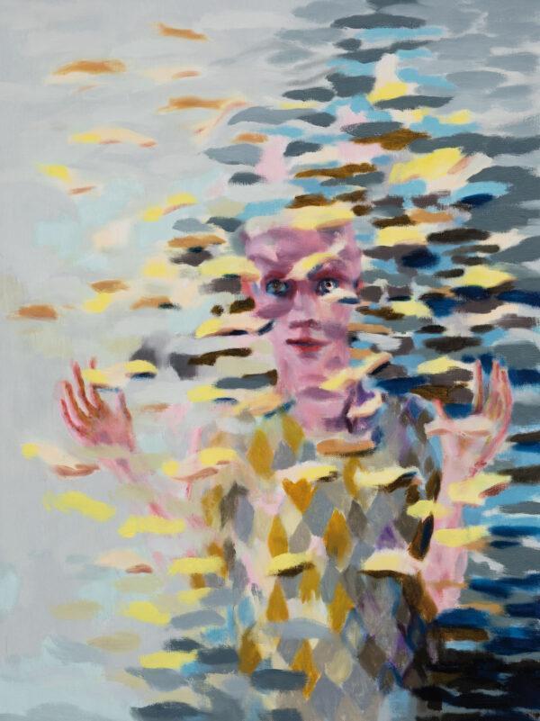 Tjark Ihmels, Es bleibt unübersichtlich, 2020, Öl auf Leinwand, 80 x 60 cm