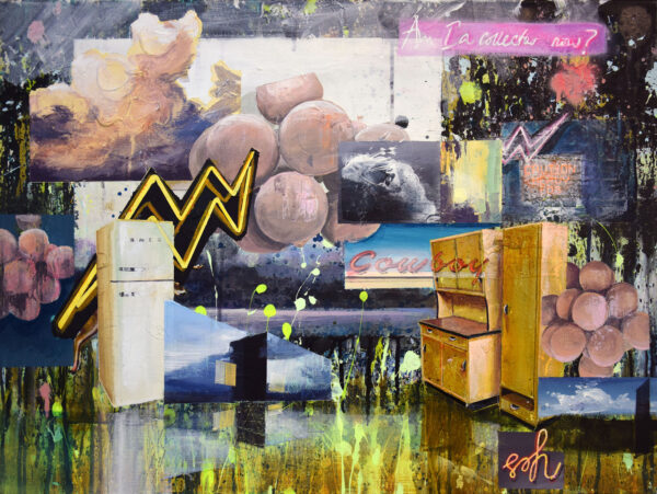 Tessa Wolkersdorfer, Am I a Collector now?, 2020, Acryl, Tusche auf Leinwand, 80 x 60 cm