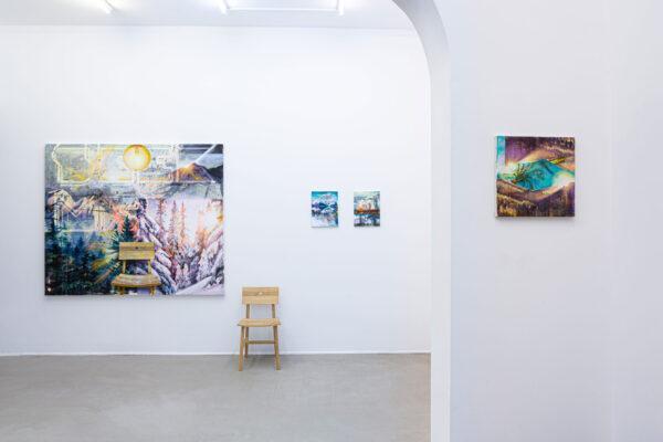 Ausstellungsansicht: Tessa Wolkersdorfer, 2020, Galerie Greulich