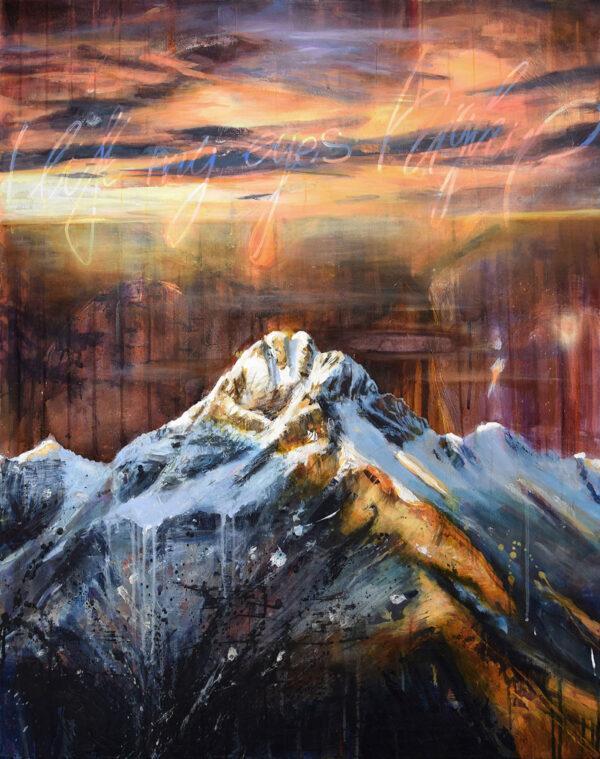 Tessa Wolkersdorfer, High Up, 2020, Acryl, Tusche auf Leinwand, 100 x 80 cm