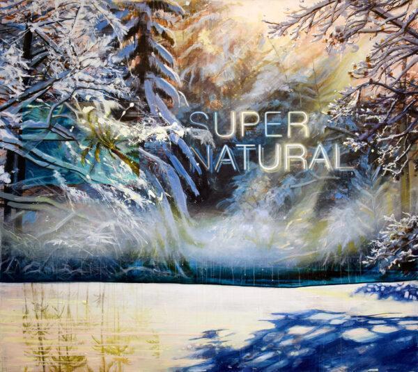 Tessa Wolkersdorfer, Super Natural, 2020, Acryl, Tusche auf Leinwand, 160 x 180 cm