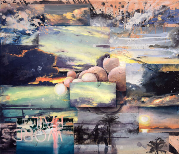 Tessa Wolkersdorfer, Words Fail, 2019, Acryl, Tusche auf Leinwand, 55 x 65 cm