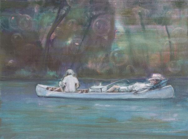 Isabel Friedrich, Just Remember What I Say, 2020, Tuche, Öl auf Leinwand, 30 x 40 cm