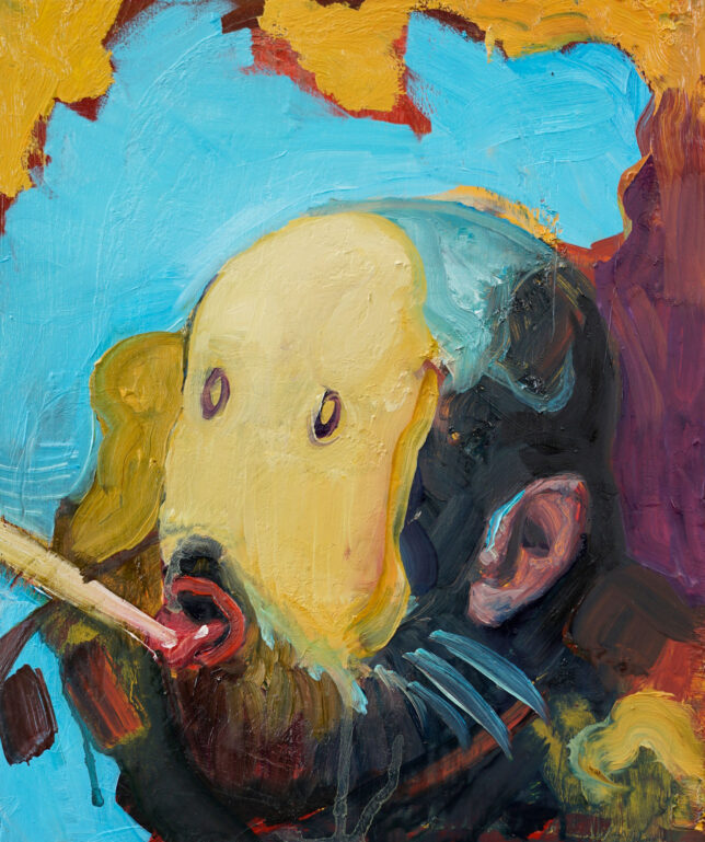 Philip Kummer, Thats why you like me, 2021, Öl auf Holz, 30 x 25 cm