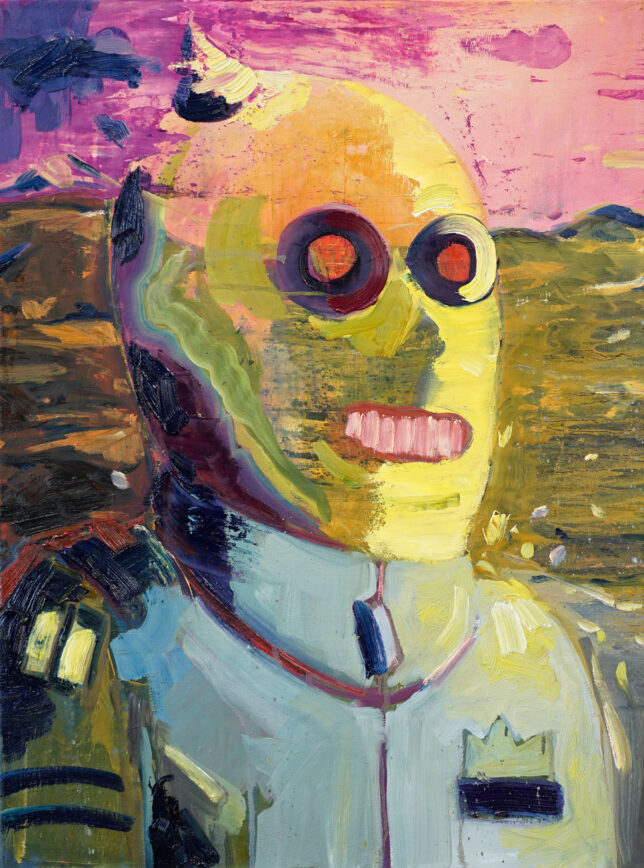 Philip Kummer, Der Wanderer, 2021, Oil on Canvas, 80 x 60 cm