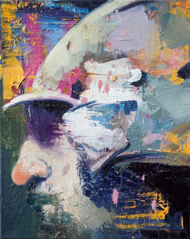 Philip Kummer, Guter Tag, 2021, Öl auf Leinwand, 50 x 40 cm