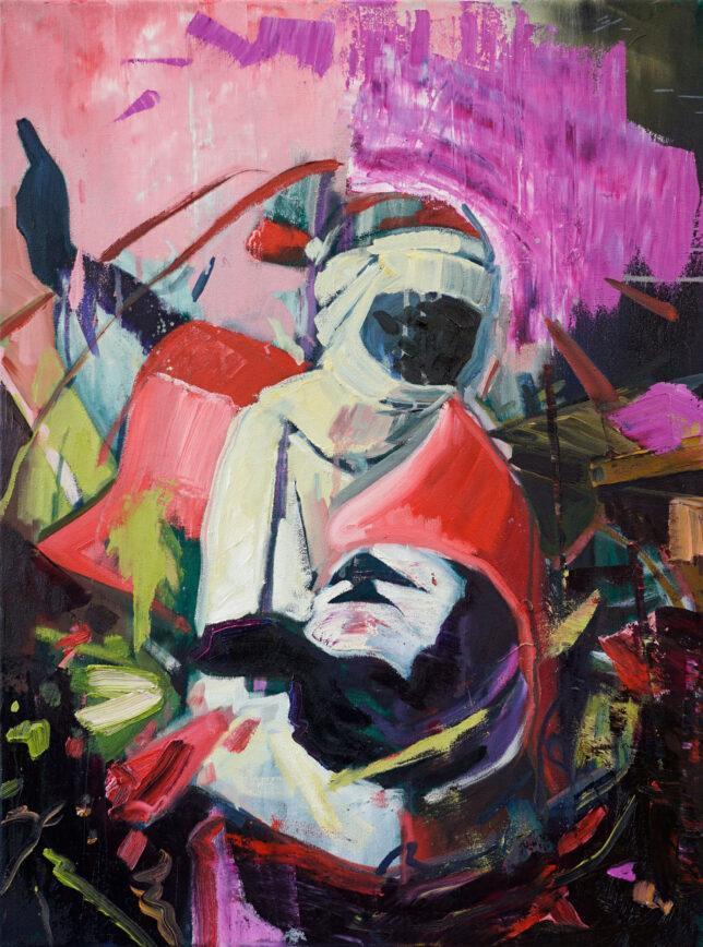 Philip Kummer, In the light of the border, 2021, Öl auf Leinwand, 80 x 60 cm