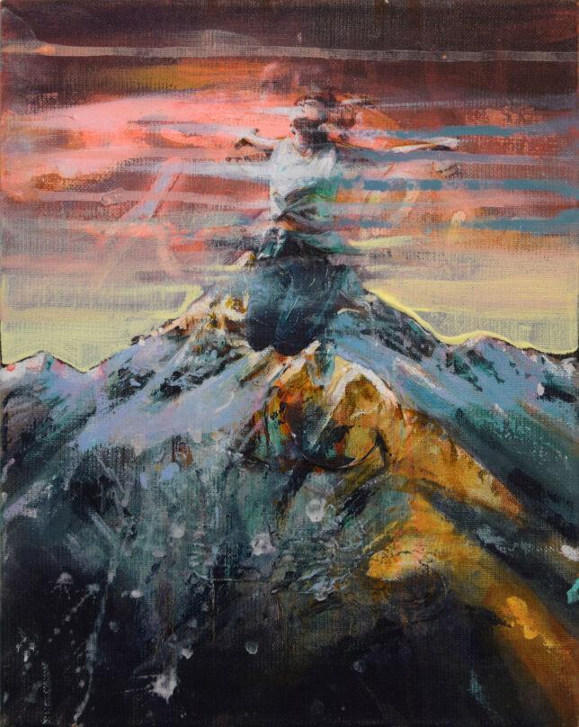 Tessa Wolkersdorfer, Springscape 3, 2021, 30 x 24 cm