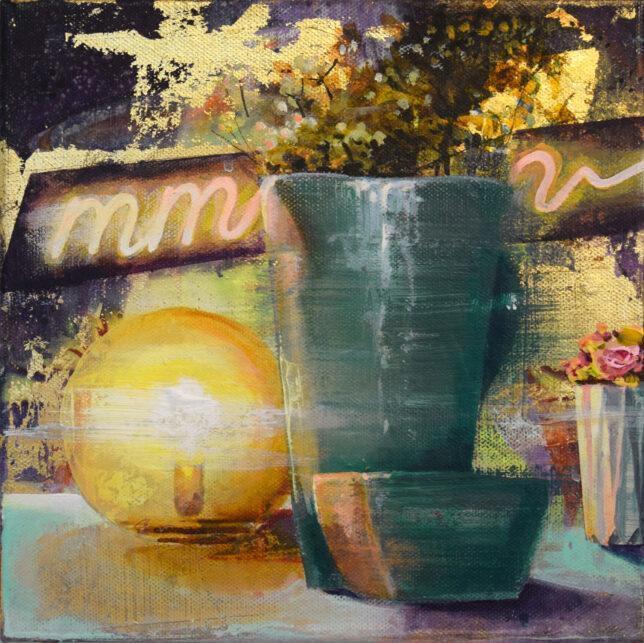 Tessa Wolkersdorfer, Still life with a mmm, 2021, 25 x 25 cm